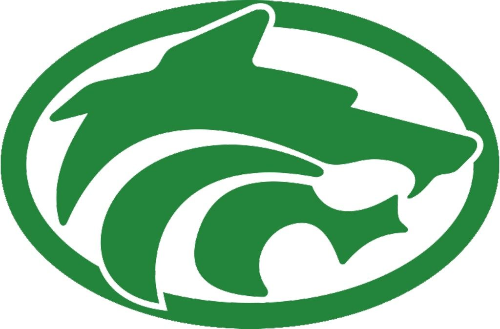 Buford Green Wolf Head Logo in Oval Frame